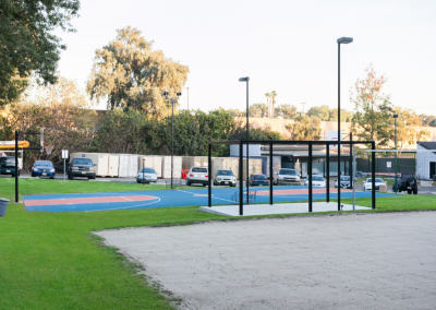 basketball court and play area